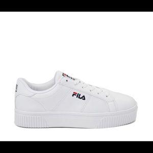 Womens Fila Panache Platform Athletic Shoe White